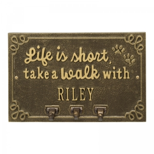 Take a Walk with Your Dog Plaque