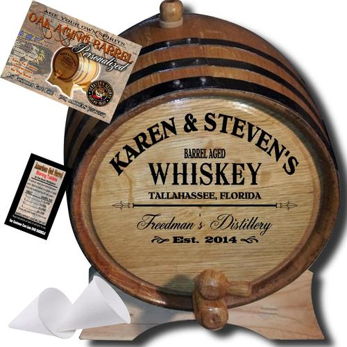 Personalized Whiskey and Wine Barrels
