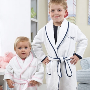 Kids Shawl Collar Robes