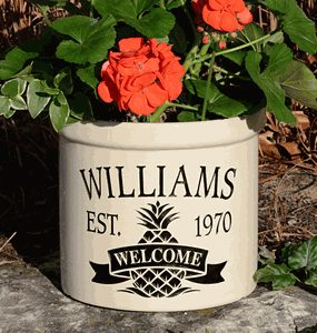 Personalized Stoneware Crocks